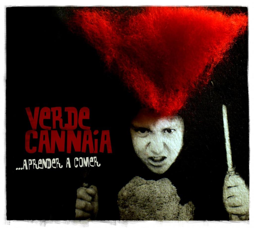 """Bendito Dilema. Diseño CD """"Aprender a comer"""" Verde Cannaia"""