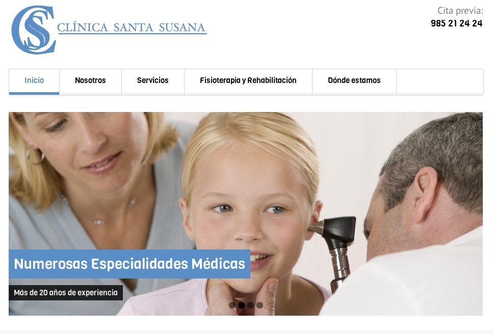 Web Clínica Santa Susana